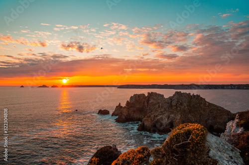 Fototapeta Coucher de soleil Presqu'île de Crozon obraz