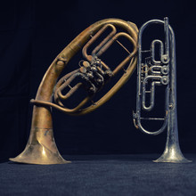 Old Brass Instrument And Horn...