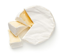 Camembert Cheese Isolated On W...