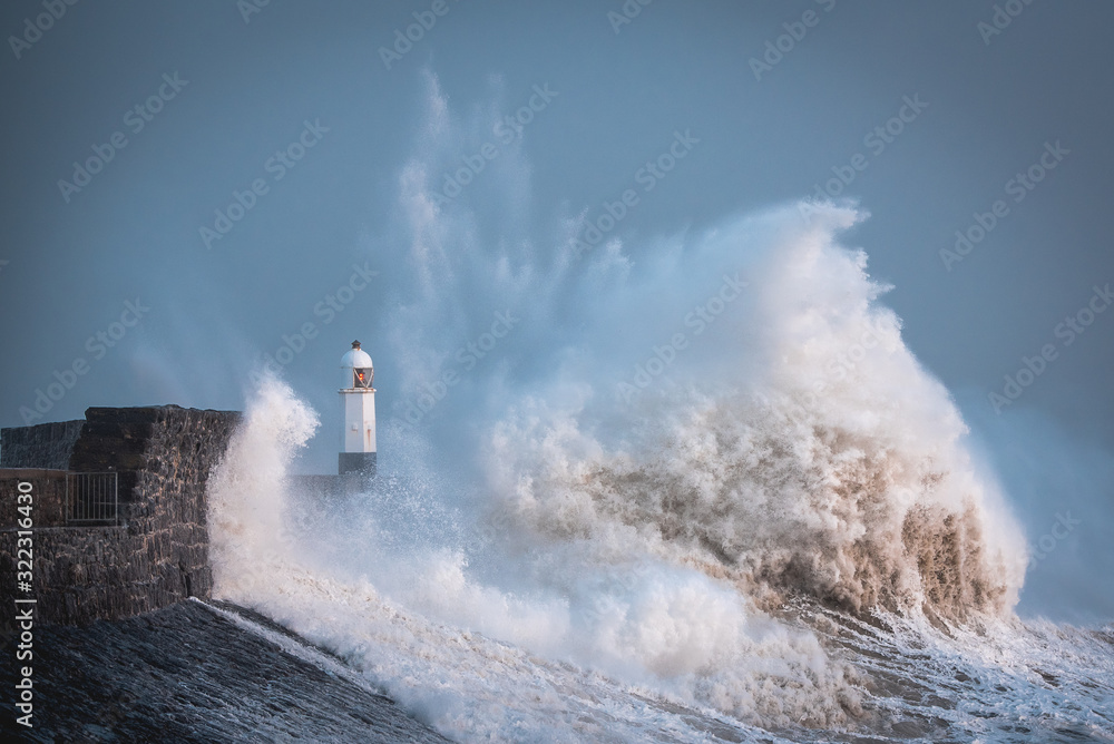 Storm Ciara reaches the Welsh coast Massive waves as storm Ciara hits the coast of Porthcawl in South Wales, United Kingdom
