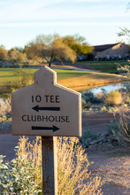 Golf Course Directional Sign T...