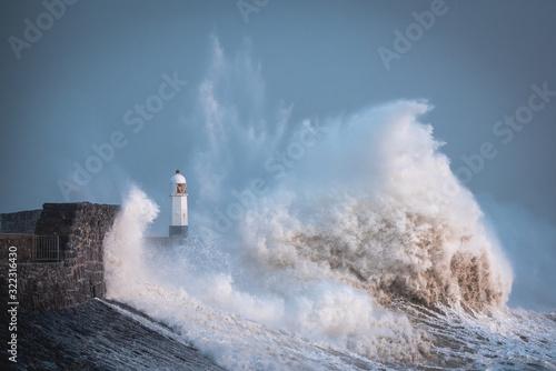 Storm Ciara reaches the Welsh coast Massive waves as storm Ciara hits the coast Wallpaper Mural