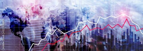 Fototapeta Financial Crysis Recession Economic concept. obraz