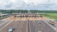 Aerial Image Highway Toll Plaz...