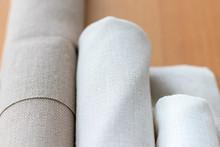 Three Rolls Of Natural Linen F...