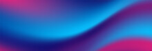 Blue Purple Neon Smooth Liquid Waves Abstract Background. Vector Banner Design