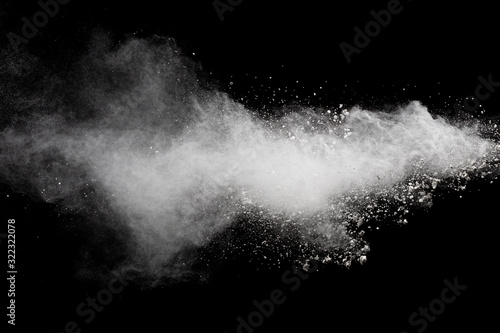 Fotomural Abstract white powder explosion