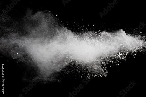 Fotografía Abstract white powder explosion