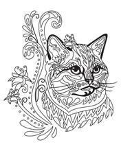Coloring Antistress Cat 8