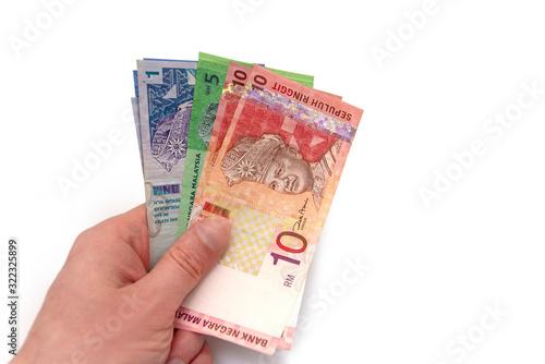 Photo Close-up Malaysian Money, Malaysian currency and portrait of Abdul Rahman