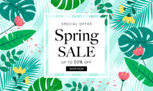 Spring Sale Background Banner ...