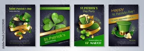Obraz na płótnie Patrick's Day party flyer