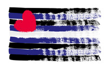Grunge Leather Pride Flag. Vector Illustration Symbol Of Gay. LGBT Movement. LGBTQ Community.