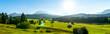 Berglandschaft zwischen Mittenwald und Garmisch-Partenkirchen, Bayern, Deutschland