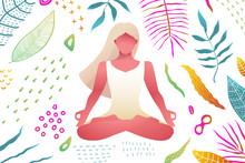 Woman Meditation Yoga Practice...