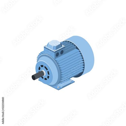 Slika na platnu Electric generator motor