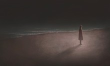 Woman Alone With The Sea, Surr...