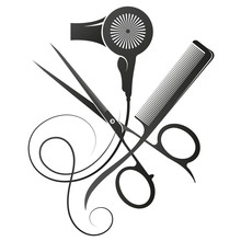 Scissors And Comb Stylist Hair...
