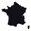 High detailed vector map - France