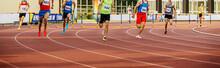 400 Meters Hurdles Men Runners...
