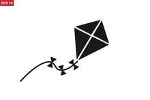 Kite Icon, Flying Kite Icon