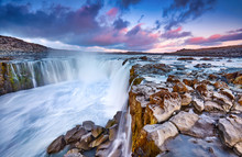 Colorful Clouds Over Selfoss W...
