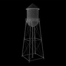 Water Tower. Industrial Constr...