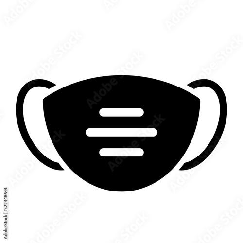 Fototapeta Face mask vector icon obraz