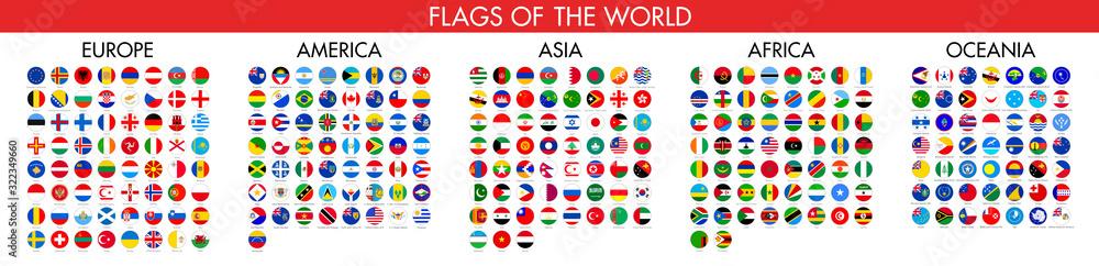 Fototapeta Flag of world. Vector icons