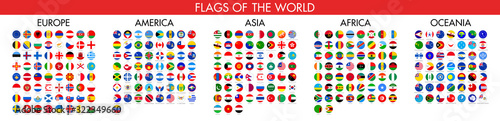 Flag of world. Vector icons Fototapet
