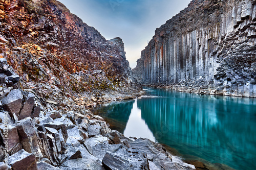 Studlagil basalt canyon, Jokulsa a Dal River Poster Mural XXL