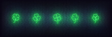 Clover Neon Icons For Saint Pa...