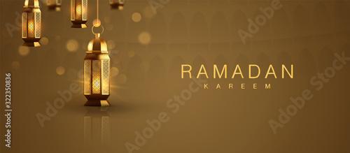 Islamic Background Vintage Arabic Luminous Lamp Decoration Wallpaper Mural