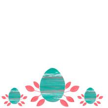 Easter Eggs.Minimalist Style. ...