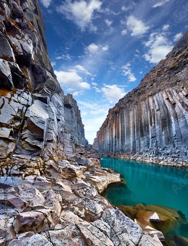 Okleiny na drzwi - Krajobraz - Pejzaż  studlagil-basalt-canyon-jokulsa-a-dal-river-iceland-europe-one-of-the-most-wonderfull