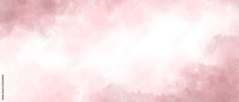 Fototapeta Pink color abstract watercolor background