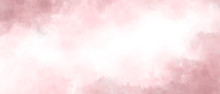 Pink Color Abstract Watercolor...