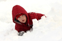 The Boy Was Stuck In The Snow ...