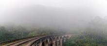 Railroad Tracks In The Fog Sri...