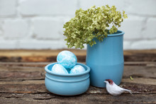 Decorative Dyed Easter Eggs In...