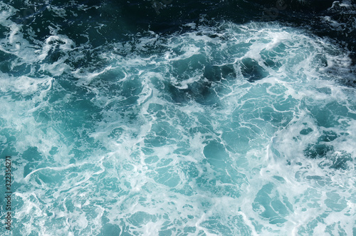 Fototapeta  sea water with white wave for background obraz