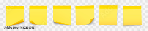 Fotografia Set stick note isolated with shadow. Vector illustration.