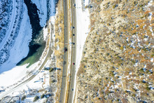 Aerial View Scenic Highway 70 ...