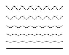 Zigzag Seamless Wave Lines Set...