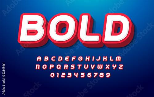 3D bold alphabet Poster Mural XXL