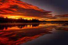 Burning Sky, Sunrise At The La...