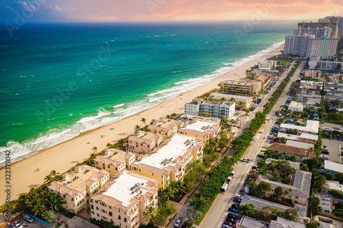 Aerial of Florida Beach Fort Lauderdale