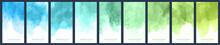 Set Of Light Green-blue Gradie...