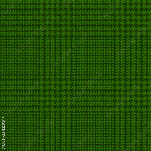 vector houndstooth seamless green pattern Canvas Print