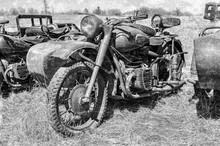 Russian Vintage Rusty Motorcir...